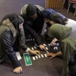 Image: AspIR programme participants take part in an activity on leadership.